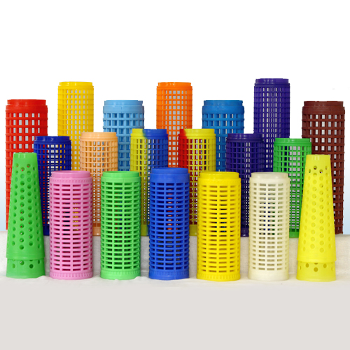 Perforated dye tubes and dye cones